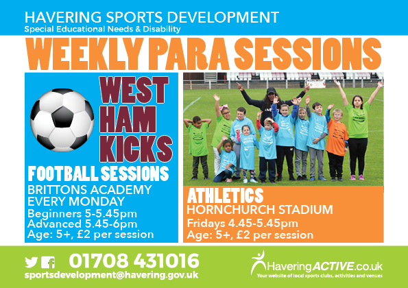 Para Active Weekly Sessions